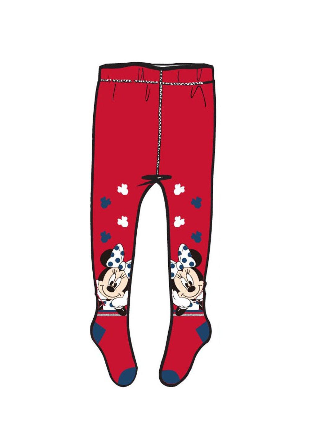 Ciorapi cu chilot, rosii, Minnie cu fundita imagine