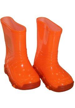 Cizme de cauciuc, portocaliu neon