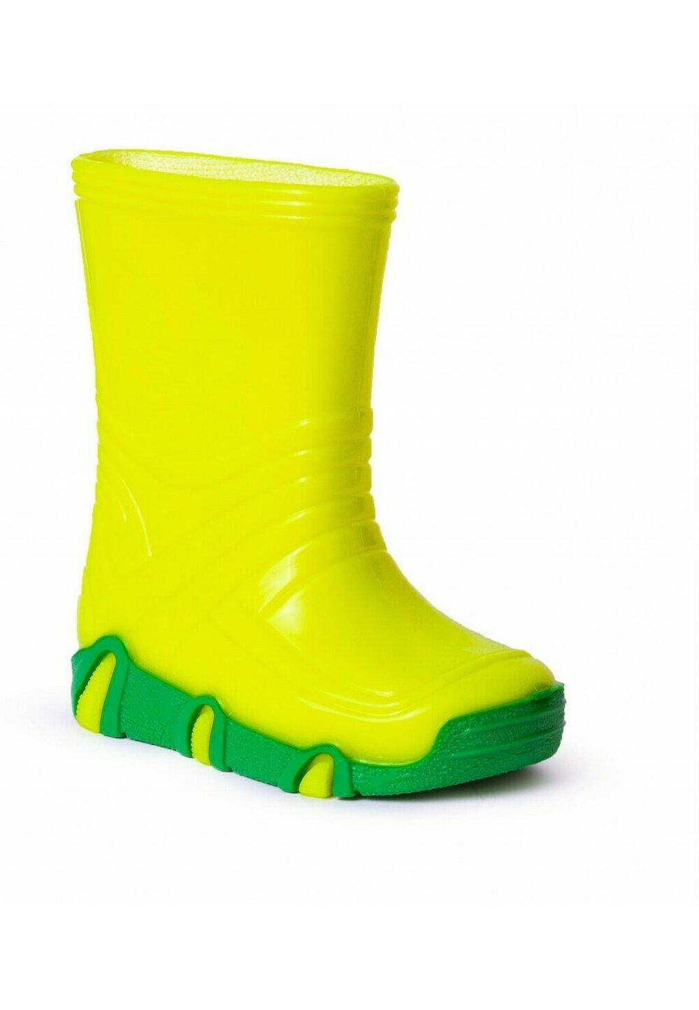 Cizme de cauciu, galben neon imagine