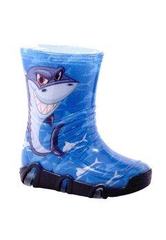 Cizme de cauciuc, albastre cu rechin