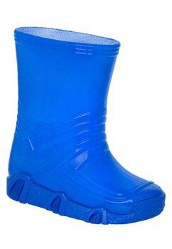 Cizme de cauciuc, albastru inchis neon
