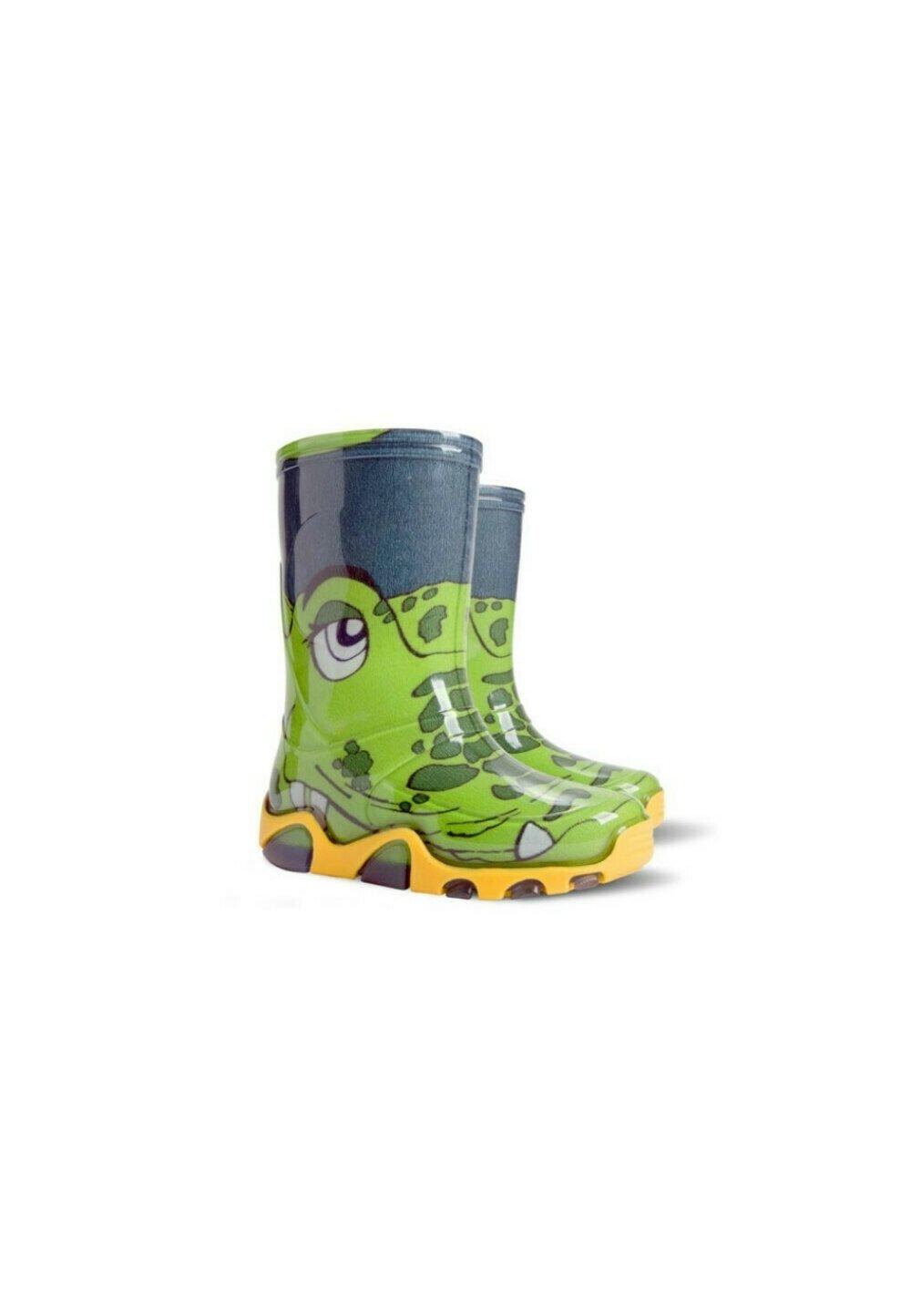 Cizme de cauciuc, crocodil verde imagine
