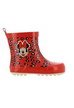 Cizme de cauciuc din PVC, Minnie Mouse, rosii