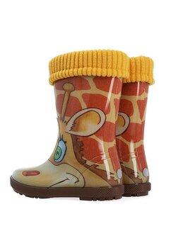 Cizme de cauciuc, girafa, maro