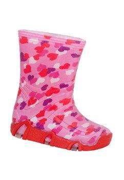 Cizme de cauciuc, roz cu inimioare colorate