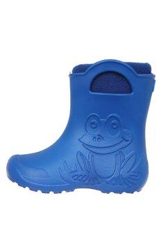 Cizme termoizolante din spuma cu ciorap, Frog, albastre