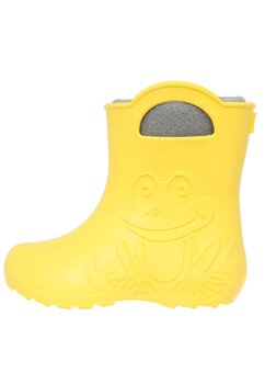 Cizme termoizolante din spuma cu ciorap, Frog, galben