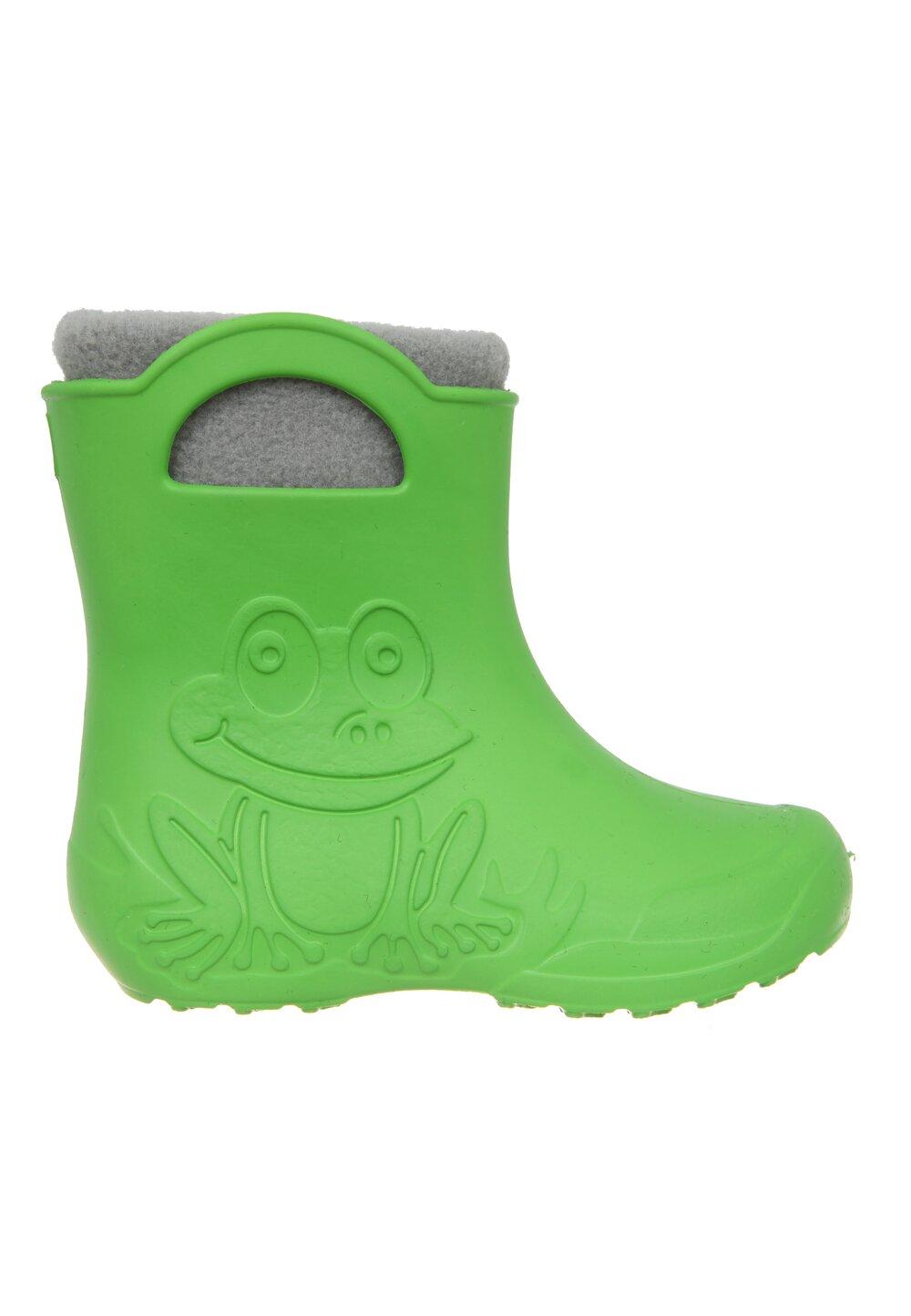 Cizme termoizolante din spuma cu ciorap, Frog, verzi