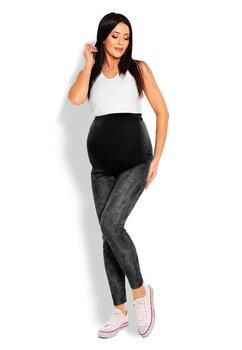 Colanti gravide, jeans, gri inchis