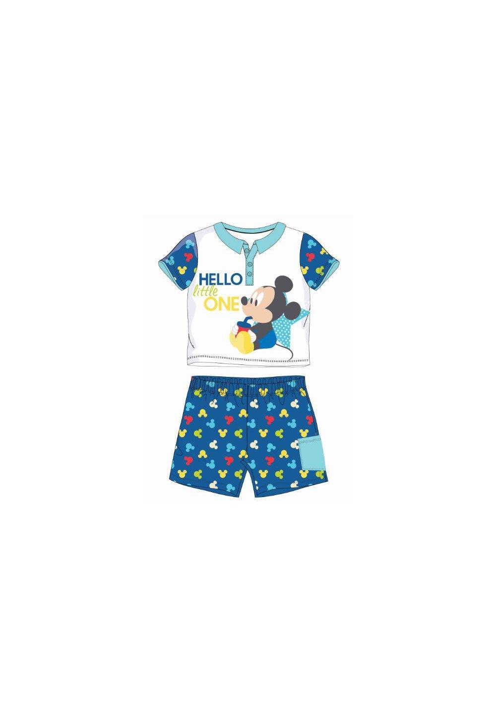 Compleu bebe, 2 piese, Mickey, albastru