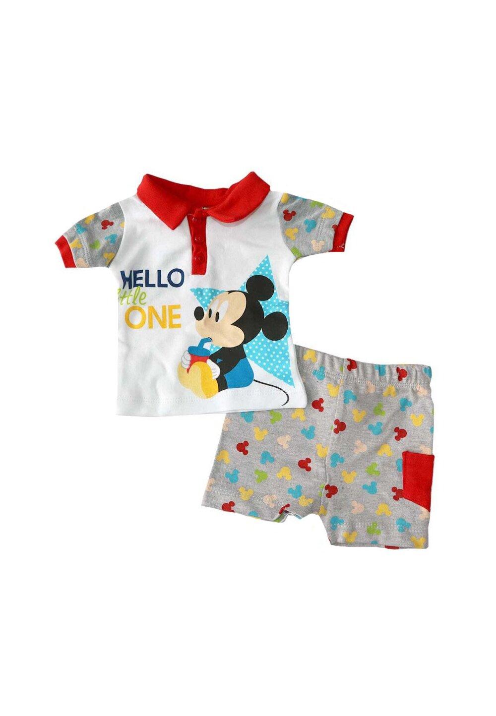 Compleu bebe, 2 piese, Mickey, gri imagine