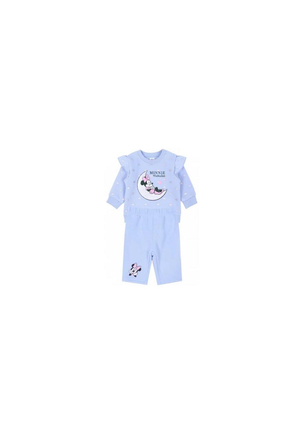 Compleu bebe, Minnie, albastru cu inimioare imagine