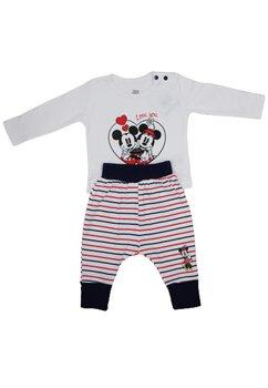 Compleu bebe, Minnie love Mickey, alb