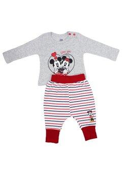 Compleu bebe, Minnie love Mickey, gri