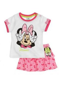Compleu bebe, Minnie Mouse, alb