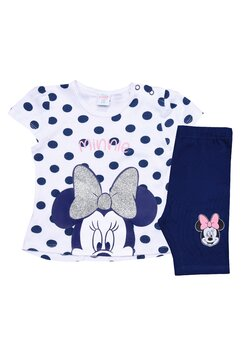 Compleu bebe, Minnie Mouse, bluemarin cu buline