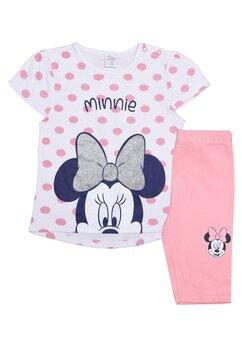 Compleu bebe, Minnie, roz cu buline