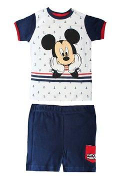Compleu, maneca scurta, bebe Mickey, bluemarin cu ancore