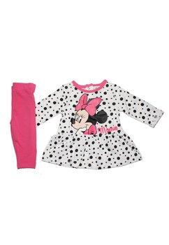 Compleu Minnie Mouse, roz, cu buline