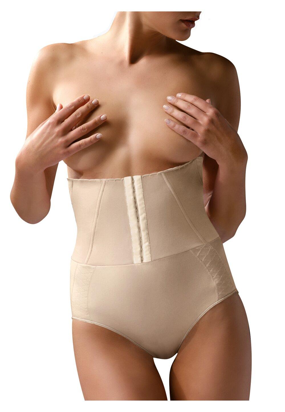 Chilot cu corset, ControlBody, compresie mare, crem imagine