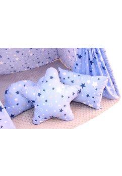Cort Tepee,albastru cu stelute, cu perne incluse