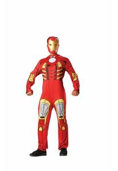 Costum adulti, poliester, Ironman, rosu