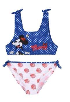 Costum de baie cu bustiera, Minnie, albastru cu buline
