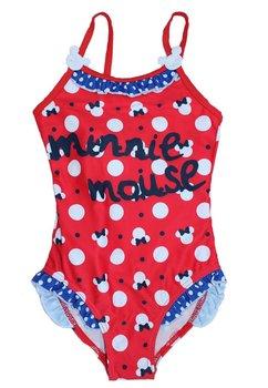 Costum de baie, intreg, cu print, Minnie, rosu