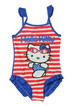 Costum de baie intreg,Hello Kitty, albastru cu dungi