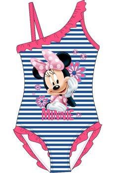 Costum de baie intreg, Minnie, albastru cu dungi si floricele