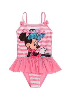 Costum de baie intreg, Minnie Mouse, roz cu dungi