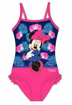 Costum de baie, intreg, Minnie, roz cu floricele