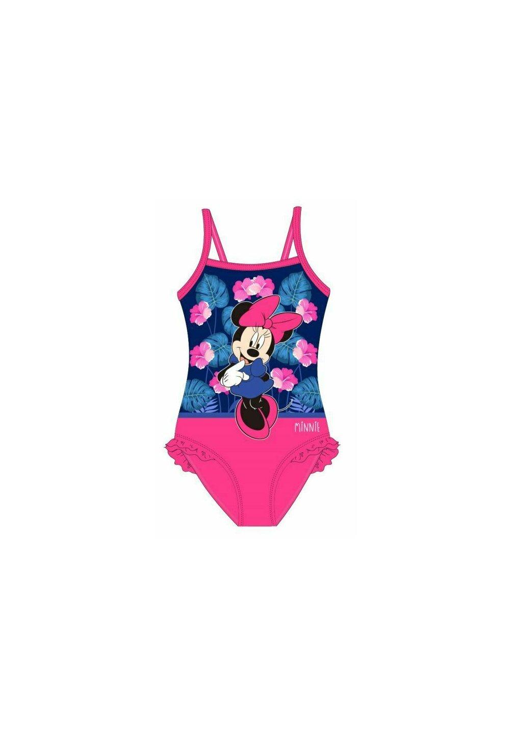 Costum de baie, intreg, Minnie, roz cu floricele imagine