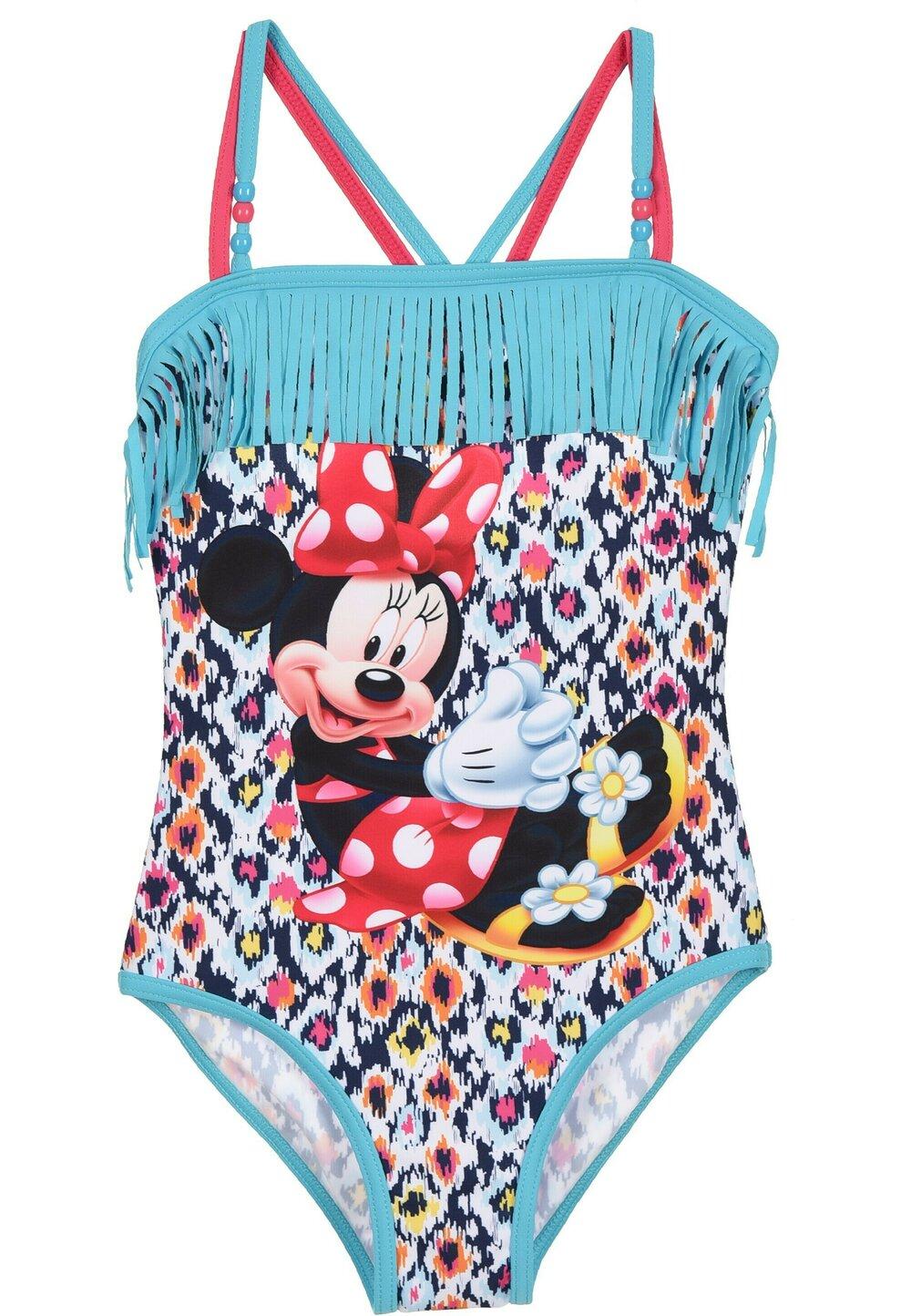 Costum de baie intreg, Minnie, turcoaz cu franjuri imagine