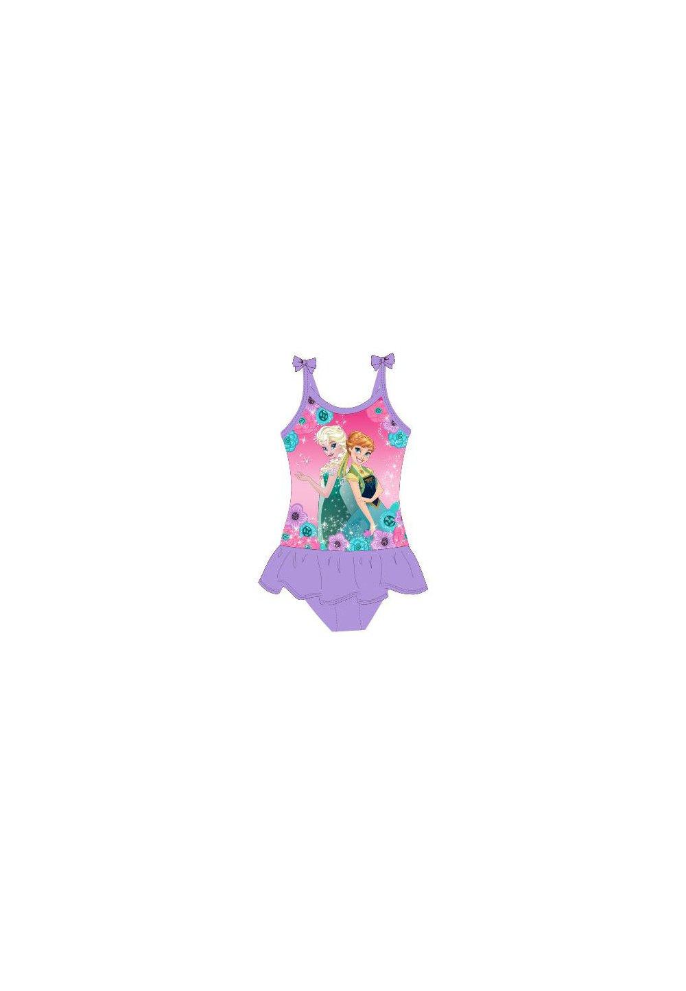 Costum de baie intreg, mov, Frozen, cu fundite imagine