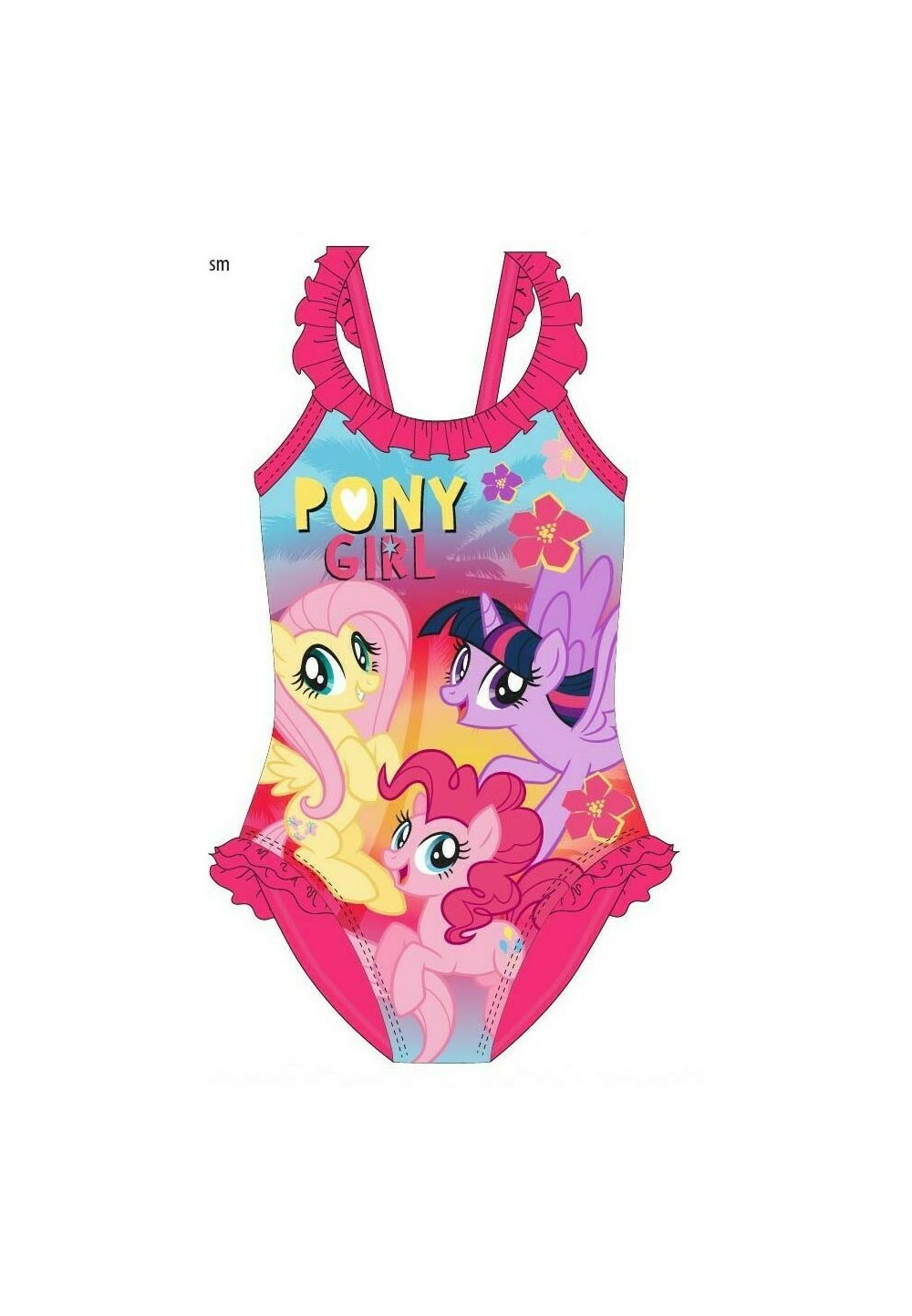 Costum de baie intreg, Pony girl, roz imagine