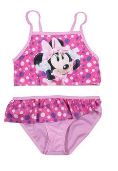 Costum de baie, roz cu buline, Minnie Mouse