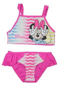 Costum de baie, roz cu dungi, Minnie Mouse