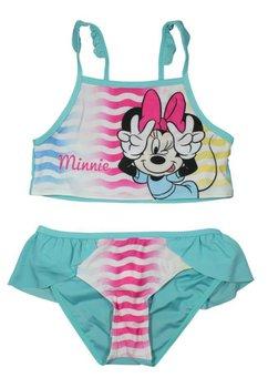 Costum de baie, turcoaz cu dungi, Minnie Mouse