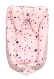 Cuib, gri cu stelute roz