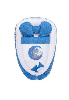 Cuib, minky, Teddy bear, albastru