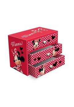 Cutie bijuterii, rosie cu bulinute albe, Minnie Mouse