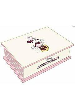 Cutie de bijuterii, din lemn, Minnie Mouse, roz