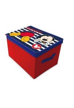 Cutie depozitare, Mickey Mouse, rosie cu dungi, 40x30x25cm