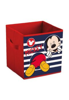 Cutie depozitare, pliabila, Mickey, rosie