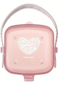 Cutie pentru suzeta, roz cu inimioara