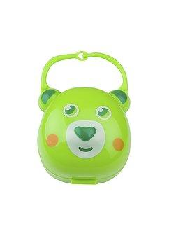 Cutie pentru suzeta, verde ursulet