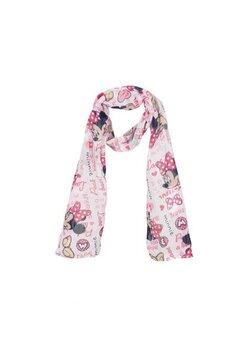 Esarfa, Love Minnie, alb cu roz