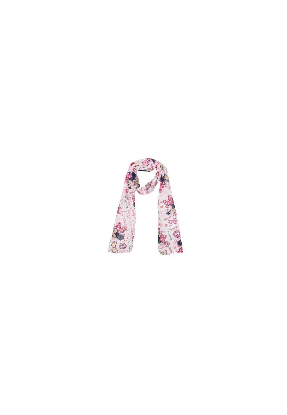 Esarfa, Love Minnie, alb cu roz imagine