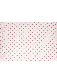 Fata de perna, alb cu buline roz